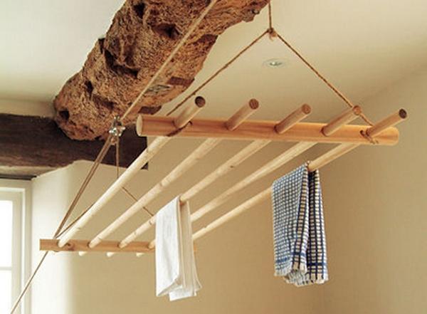 Потолочная сушилка для белья на балкон: выбор, монтаж, изготовление своими руками